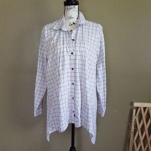 Zac&Rachel Womens Blouse Button down Shirt size 2X